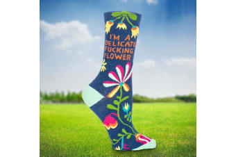 I'm A Delicate F***ing Flower Ladies Socks – Sox Women Rude Funny