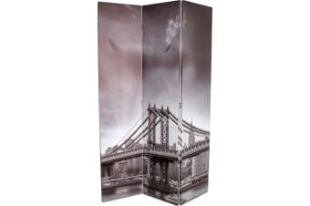 3 Panel Room Divider | Printed | Manhattan Bridge