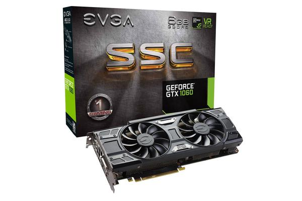 EVGA GeForce GTX1060 Graphics Card 6GB GDDR5 SSC Gaming Version