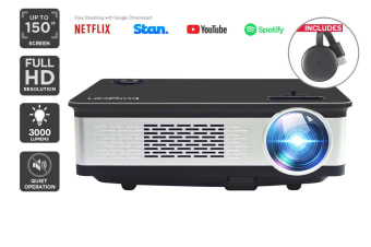 Kogan 3000 Lumens Full HD Projector (F300) + Chromecast 3