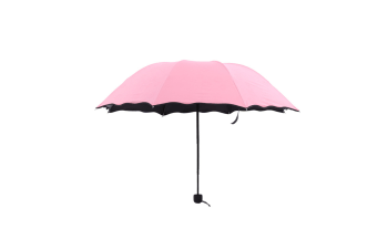 Fashion Printed Auto Foldable Sun Rain Anti-Uv Umbrella Pink