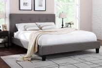 Ovela Bed Frame - Positano Collection (Grey)