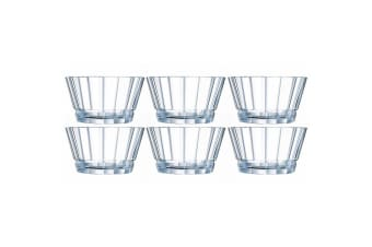 6PK Cristal D'Arques Macassar 12cm Small Snacks Dips Glass Bowl Servingware