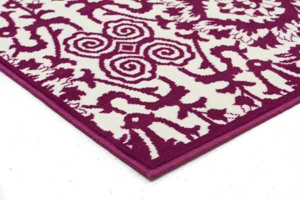Funky Lace Design Pink Rug 230x160cm