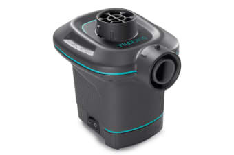 Intex 240V AC QuickFill Air Electric Pump/Inflatable/Deflatable Pool/Airbeds BLK
