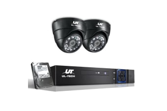 UL-TECH 1080P Four Channel Security System with 2 Cameras & 1TB Hard Drive (Black)