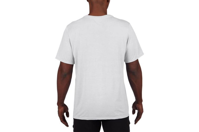 Gildan Mens Core Performance Sports Short Sleeve T-Shirt (White) (2XL)
