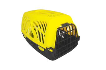 Armitages Pet Products Good Girl Plastic Pet Carrier (Yellow/Black)