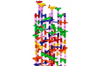 Marble Run - 219 Piece with Glass Marbles