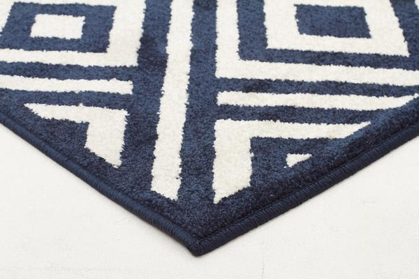 Indoor Outdoor Matrix Rug Navy 330x240cm