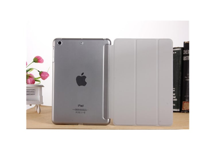 Premium Leather Business Slim Folding Stand Folio Cover For Ipad Grey New Pro11