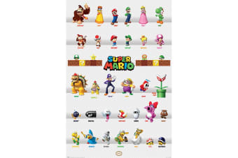 Super Mario Poster Character Parade 278 (Multicoloured)