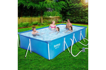Bestway Swimming Pool Above Ground Steel Frame Pools Filter Pump