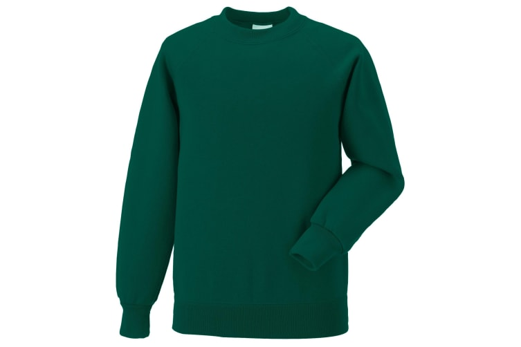 Jerzees Schoolgear Childrens Raglan Sleeve Sweatshirt (Bottle Green) (3-4)