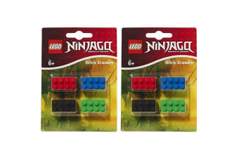 8PC Lego Ninjago Brick Erasers/Rubber/Stationery Set School Essentials for Kids