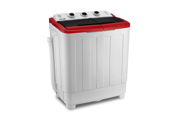 Maxkon 5KG Twin Spin Washing Machine Portable Top Load Washer - Red