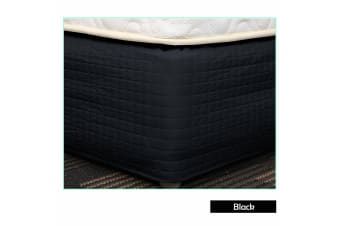 Easy Fit Quilted Valance Black - King Single