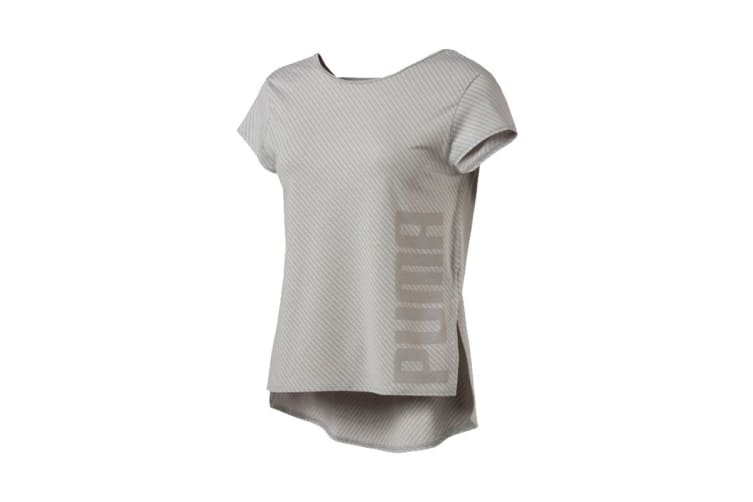 Puma Women's Dancer Drapey Tee (Light Grey, Size XS)