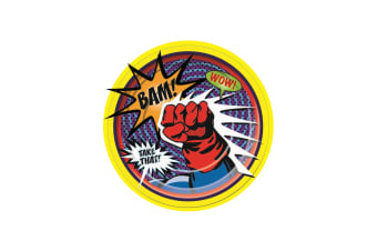 Bristol Novelty Super Hero Paper Plates (Pack Of 8) (Multicoloured) (Small)