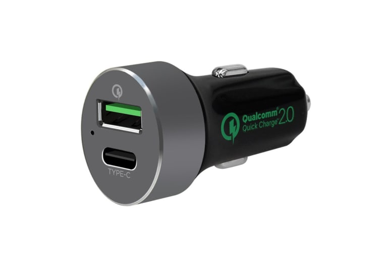 mbeat QuickBoost Dual Port Quick Charge 2.0 & USB Type-C Car Charger (MB-CHGR-QBC)