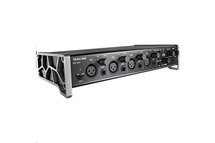TASCAM US-4x4 USB Audio/MID Interface with HDDA Mic Preamps and iOS Compatibility combines great