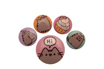 Pusheen Button Badge Set (Multi-color) (One Size)