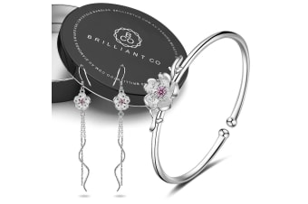 Boxed Blossom Latifah Bangle and Earrings Set