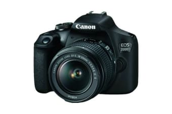 New Canon EOS 2000D Kit EF-S 18-55mm f/3.5-5.6 IS II Digital SLR Camera Black (FREE DELIVERY + 1 YEAR AU WARRANTY)