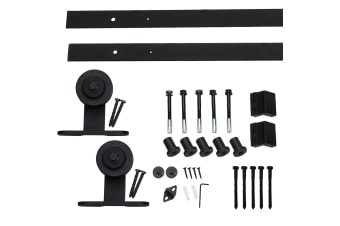 2M Antique Classic Style Single Sliding Barn Door Hardware Track Roller Kit