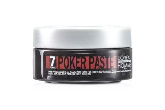 L'Oreal Professionnel Homme Poker Paste (Reworkable Compact Paste, Extreme Hold) 75ml