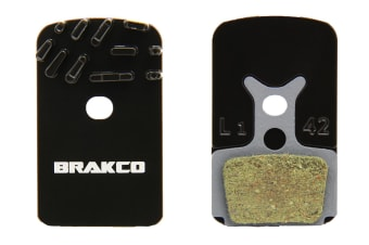 Brakco Organic Disc Pads With Heat-dissipation Fin For Formula Mega One