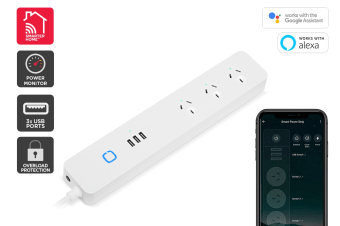 Kogan SmarterHome™ Smart Power Strip With USB Ports & Energy Meter