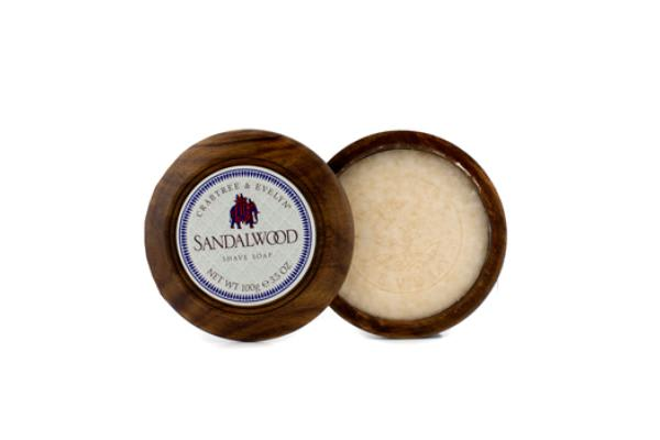 Crabtree & Evelyn Sandalwood Shave Soap In Wooden Bowl (100g/3.oz)