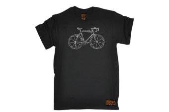 Ride Like The Wind Cycling Tee - Bike Part Words Mens T-Shirt