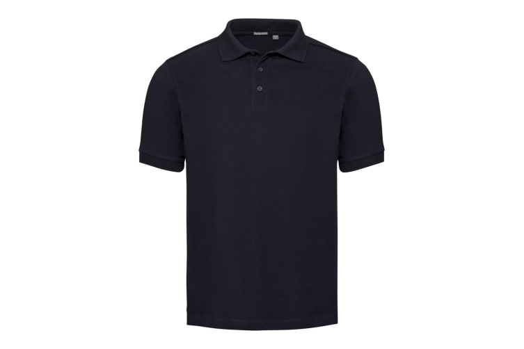 Russell Mens Tailored Stretch Pique Polo Shirt (French Navy) (M)