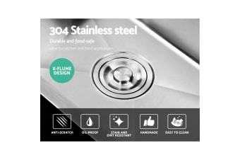Cefito Kitchen Sink Stainless Steel Laundry Top/Undermount Double Bowl 800x450MM