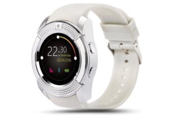 "TODO Bluetooth V3.0 Smart Watch 1.22"" Hd Lcd Rechargeable 3Mp Camera - White"