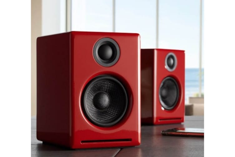 Audioengine 2+ Wireless Desktop Speakers Pair - Hi-Gloss Red (90027135)
