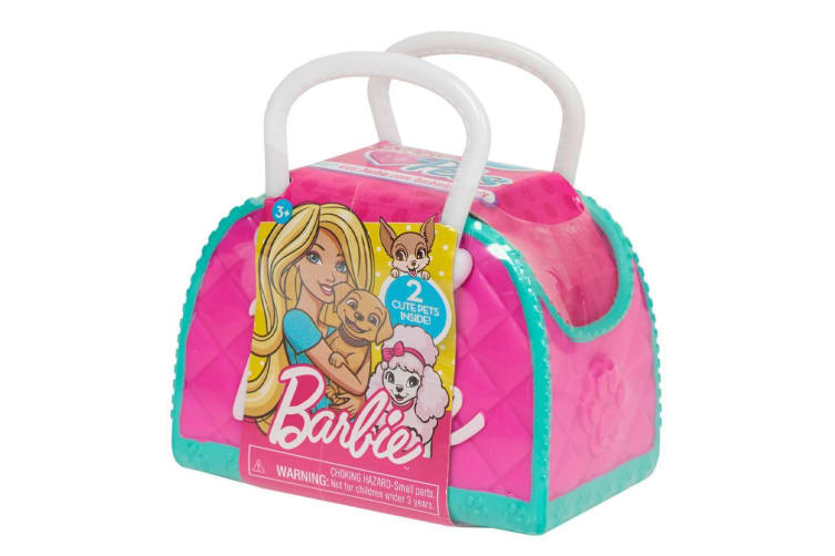 Barbie Blind Pet Carrier with 2-piece Puppy Figures