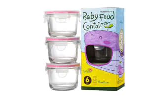 Glasslock Round Baby Food Container 3pc Set 165ml