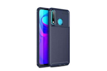 Phone Case Carbon Fiber TPU Phone Protection Cover Simple Lightweight Mobile Phone Protector for HUAWEI P30 Lite-blue