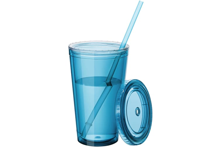 Bullet Cyclone Insulated Tumbler And Straw (Aqua Blue) (15.5 x 10 cm)