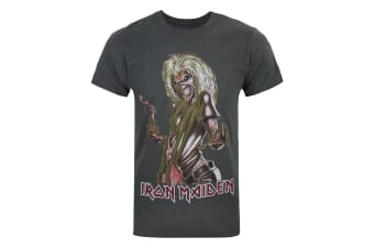 Amplified Official Mens Iron Maiden Killers T-Shirt (Charcoal) (S)