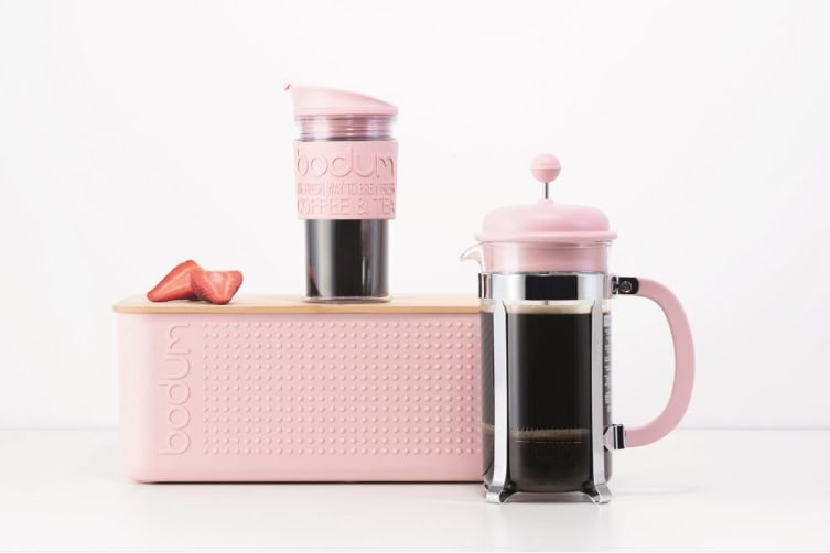 Bodum Travel Mug Double Wall 350ml Pastel Pink