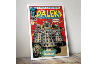 Doctor Who The Daleks Comic Poster 61 x 91cm Exterminate TV Show Wall Art