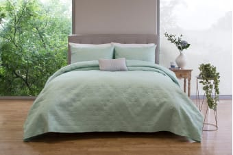 Ardor Boudoir Winslow Embossed Coverlet Set (Mint)