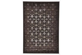 Royal Kashan Designer Runner Rug Chocolate Brown