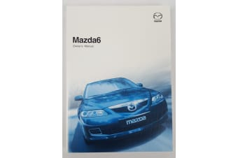 New Genuine Mazda 6 GG Series 2 Owners Manual Mazda6 2005 - 2007 8W18-EO-06F