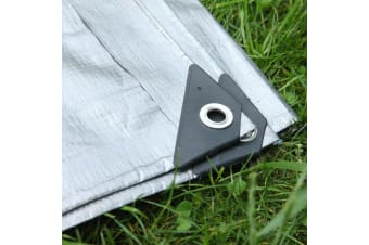 Mulit-Size Heavy Duty Poly Tarps 200gsm PE Tarpaulin Camping Cover UV Rot Proof  -  4.3x6.1m4.3x6.1m