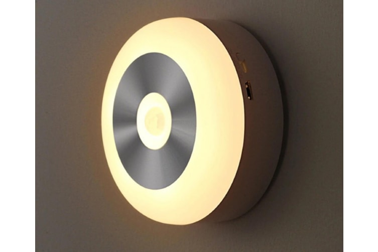 WJS USB Smart Sensor Night Light Infrared Body Light Control Light Corridor Aisle Lights Creative Cabinet Lights-Yellow